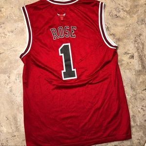 adidas Shirts - Adidas Chicago Bulls Derrick Rose #1 Red Jersey L